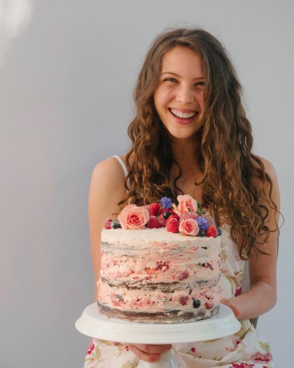 Sadie with cake